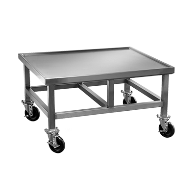 Champion TUFF grill equipment stand with casters - TUFF charbroiler SS stand