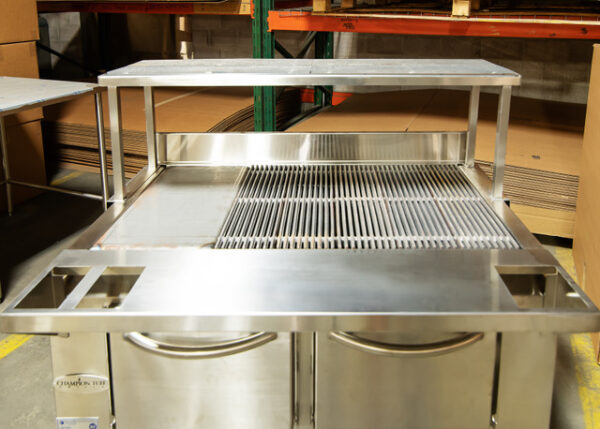 Champion TUFF commercial grill with shelf