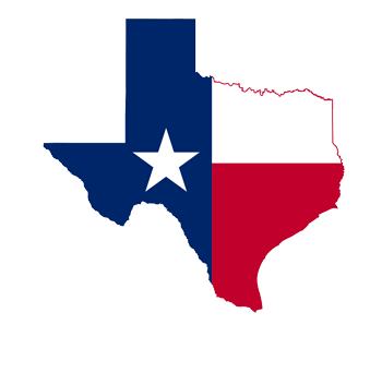 Texas logo and map