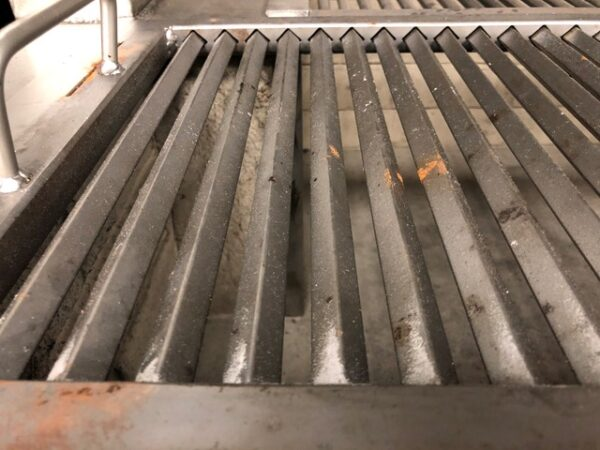 commercial indoor grill top view