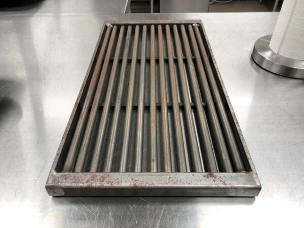 round grill grate accessory to commercial wood burning grills
